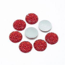 Akrilinis kabošonas papuošalams, dekoracijoms gaminti. Raudonos spalvos, kaina - 0,08 Eur už 1 vnt.