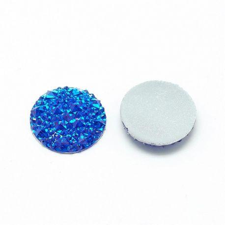 Akrilinis kabošonas papuošalams, dekoracijoms gaminti. Mėlynos spalvos, kaina - 0,08 Eur už 1 vnt.