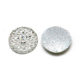 Akrilinis kabošonas papuošalams, dekoracijoms gaminti. Baltos skaidrios spalvos, kaina - 0,1 Eur už 1 vnt.