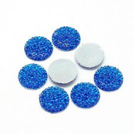 Akrilinis kabošonas papuošalams, dekoracijoms gaminti. Mėlynos spalvos, kaina - 0,1 Eur už 1 vnt.