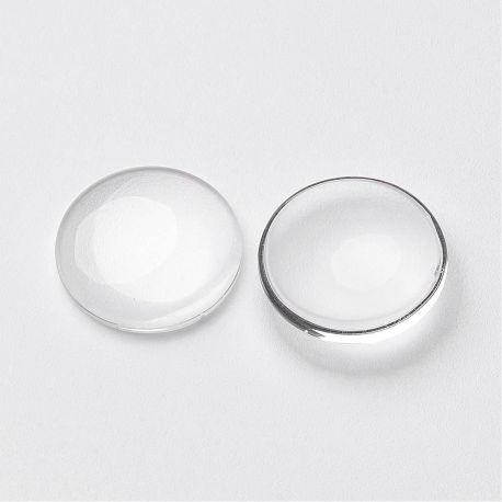 Stikliniai kabošonai, skaidrūs spalvos 15-16 mm., 1 vnt.