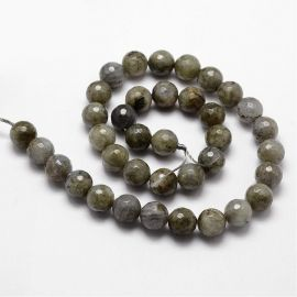 Natural Labradorite beads 10 mm., 1 strand