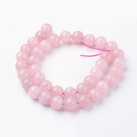 Natural Rose quartz beads 10 mm., 1 strand