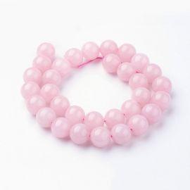 Natural Rose quartz beads 12 mm., 1 strand