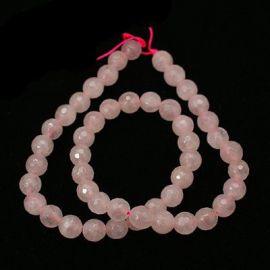 Natūralūs rožinio kvarco karoliukai 12 mm., 1 gija