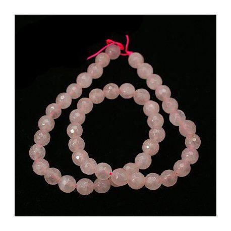 Natūralūs rožinio kvarco karoliukai - akmenėliai papuošalams, suvenyrams verti. Rausvos spalvos, apvalios formos, kaina - 7,5