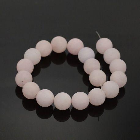 Natūralūs rožinio kvarco karoliukai - akmenėliai papuošalams, suvenyrams verti. Rausvos spalvos, apvalios formos, kaina - 3 Eu