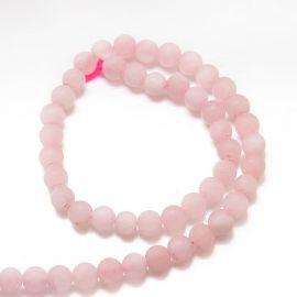 Natūralūs rožinio kvarco karoliukai 10 mm., 1 gija