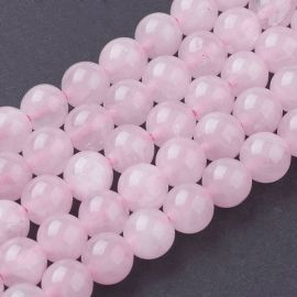 Natural Rose quartz beads 8 mm., 1 strand