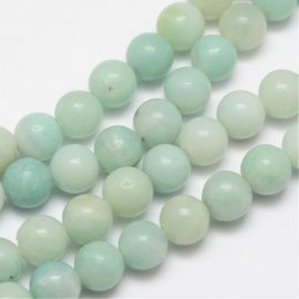 Natural Amazonite beads 8 mm., 1 strand