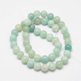 Natural Amazonite beads 8 mm., 1 strand