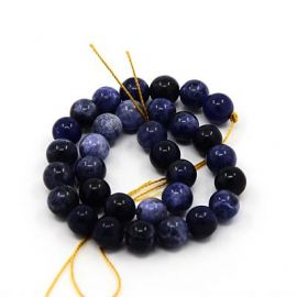 Natural sodalito beads 10 mm., 1 strand