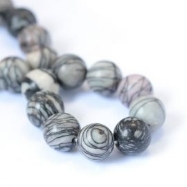 Natural bea herae beads 8 mm., 1 thread