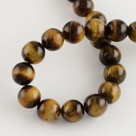 Natural Tiger eye beads 14 mm., 1 strand