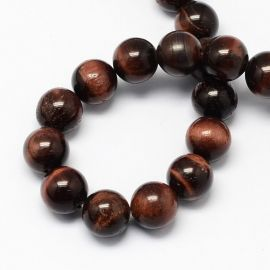 Natural Red Tiger eye beads 8 mm., 1 strand