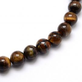 Natural Tiger eye beads 6 mm., 1 strand