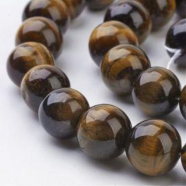 Natural Tiger eye beads 10 mm., 1 strand