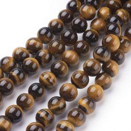 Natural Tiger eye beads 8 mm., 1 strand