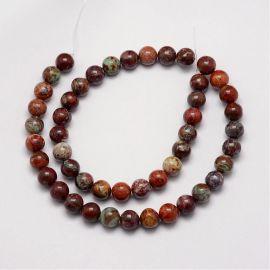 Natūralūs Afrikos opalo karoliukai 8 mm., 1 gija