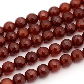 Karneolio karoliukai - akmenėliai papuošalams, suvenyrams verti. Rudai oranžinės spalvos, apvalios formos, kaina - 6 Eur už 1