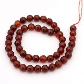 Carnelian beads 8 mm., 1 strand