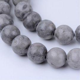 Natūralūs Medicinal jaspio karoliukai 6 mm., 1 gija.