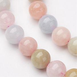 Natural Morganite beads 8 mm., 1 strand