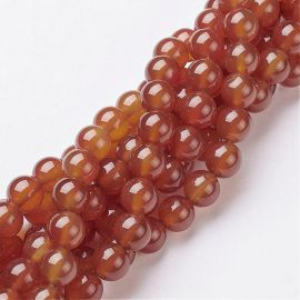 Carnelian beads 8 mm., 1 strand.