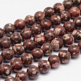 Natural Jasper beads 10 mm., 1 strand.