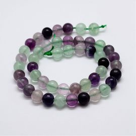 Natural Fluorite beads 12 mm., 1 strand
