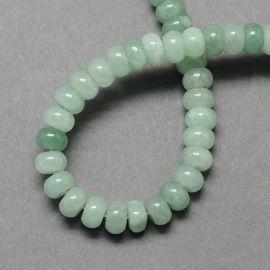Natūralūs žaliojo avantiurino karoliukai, žalios spalvos 8 mm, 1 gija.