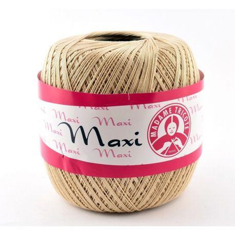 Madame Tricote Maxi ploni siūlai, šviesiai kreminės spalvos 100g. 1 rit.