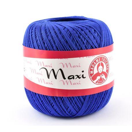 Plonas, tvirtas siūlas rankdarbiams.Maxi 6335 stiprūs siūlai, 100 % medvilnė, ryškios mėlynos spalvos, 100 g. 565 metrai. Tinka