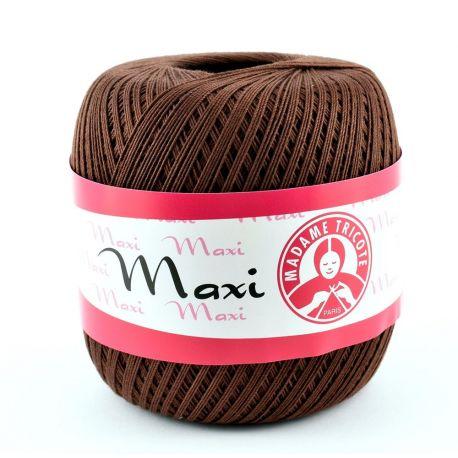 Madame Tricote Maxi ploni siūlai, tamsios rudos spalvos 100g. 1 rit.