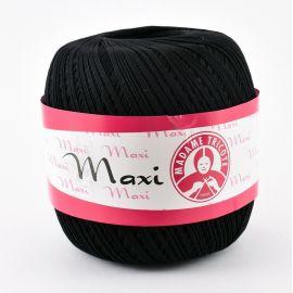 Plonas, tvirtas siūlas rankdarbiams. Madame Tricote Maxi 9999 stiprūs siūlai, 100 % medvilnė, juodos spalvos, 100 g. 565 metrai.