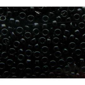 MIYUKI biseris Japoniška kokybė. Stikliniai karoliukai vėrimui Juodos spalvos, apvalios formos (Rocailles), kaina - 0,7 Eur už