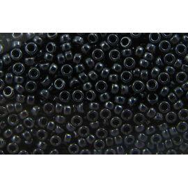 MIYUKI biseris Japoniška kokybė. Stikliniai karoliukai vėrimui Hematito spalvos, apvalios formos (Rocailles), kaina - 0,7 Eur u