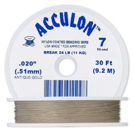 ACCULON jewelry wire thickness ~0.50 mm, 1 ritinėlis