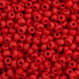MIYUKI biseris Japoniška kokybė. Stikliniai karoliukai vėrimui Raudonos spalvos, apvalios formos (Rocailles), kaina - 0,96 Eur