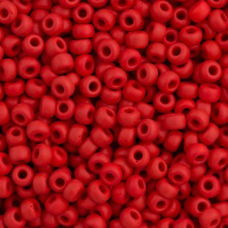 MIYUKI biseris 11-91425, raudonos spalvos 15 mm, 1 maišelis