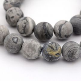 Natural Jaspio beads 10-11 mm., 1 thread