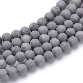 matte Jasper beads 10 mm., 1 strand.