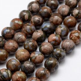 Natūralūs Afrikos Opalo karoliukai 10 mm., 1 gija