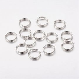 Double jump rings 6x0,9 mm