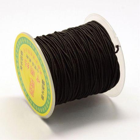 Elastinė trikotažinė gumutė skirta rankdarbiams, suvenyrams papuošalams gaminti. Juodos spalvos, kaina - 4,5 Eur už 1 ritinėlis