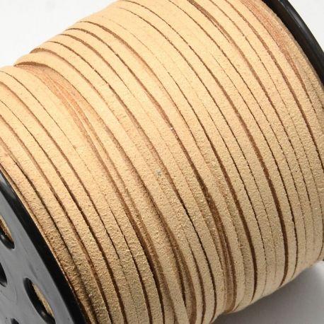 Zomšinė juostelė skirta rankdarbiams, suvenyrams papuošalams gaminti. Smėlio spalvos, kaina - 0,25 Eur už 1 metras
